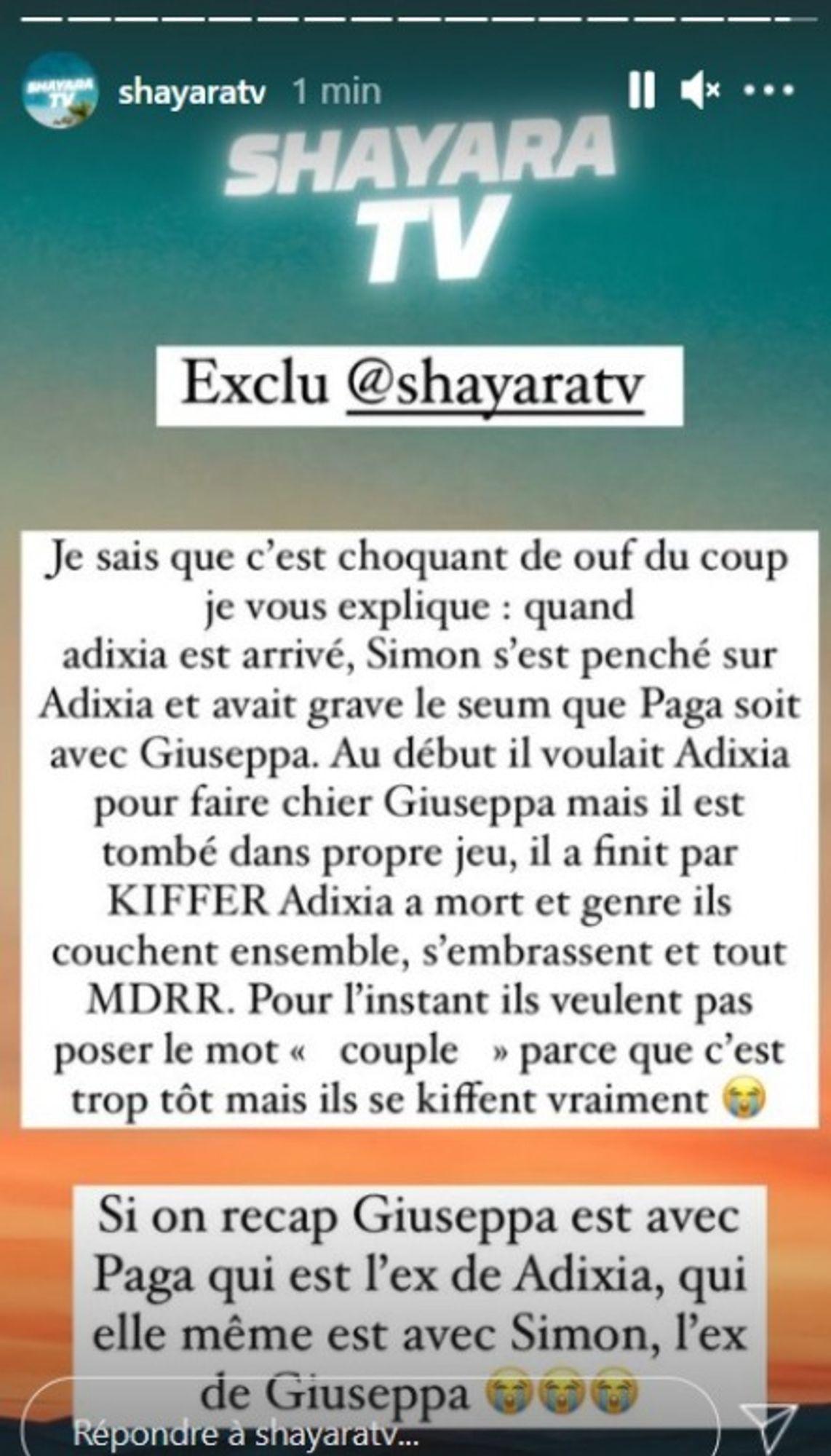 screenshot ShayaraTV simon et adixia