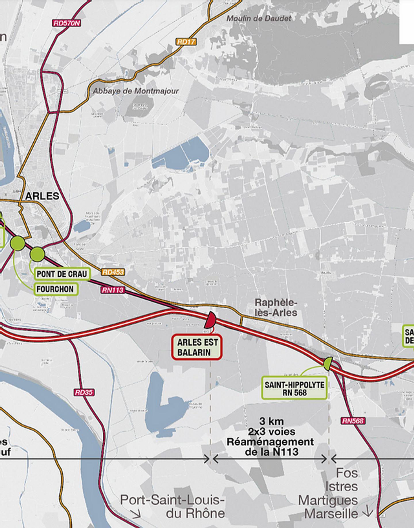 [ SOCIETE ] Le contournement autoroutier d'Arles, un dossier en passe d'être terminé.