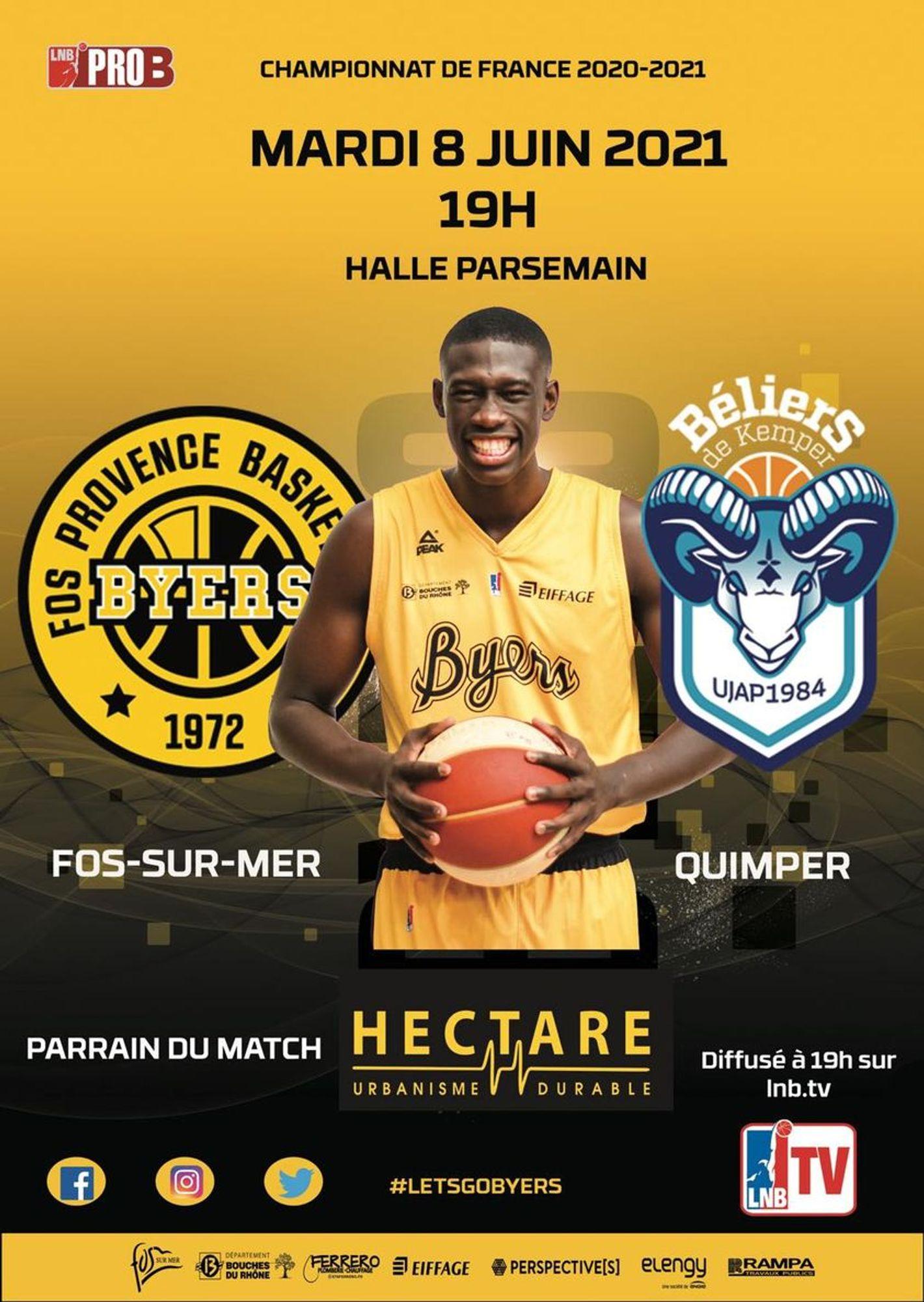 [ SPORT ] Basketball/PROB: Les Byers à 2 doigts de l'accession face à Quimper ce soir