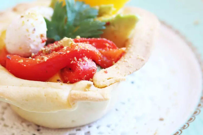 Salade mangue, poivron, avocat et mozzarella