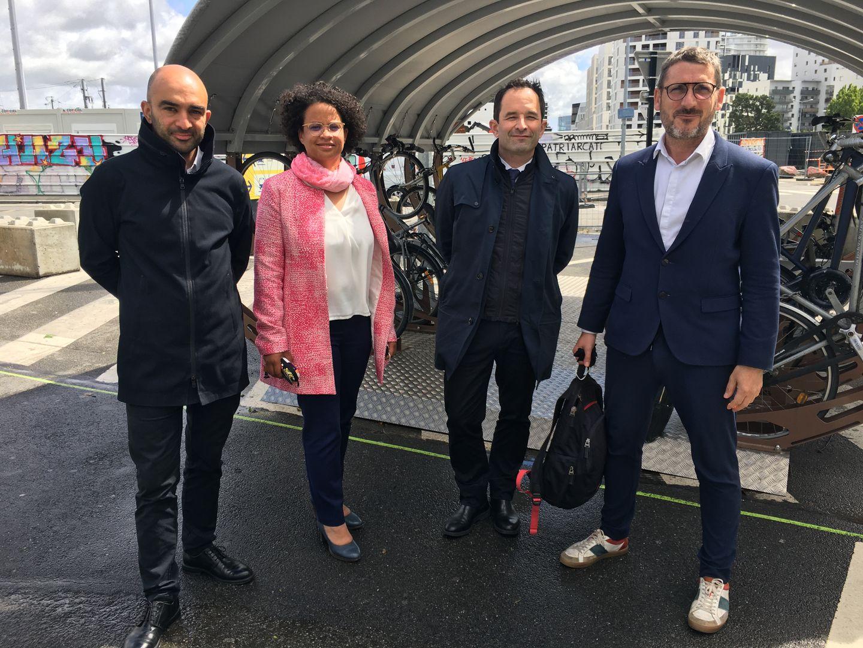 Benoît Hamon & Matthieu Orphelin, avec Aras Saeidi et Lucie Etonno