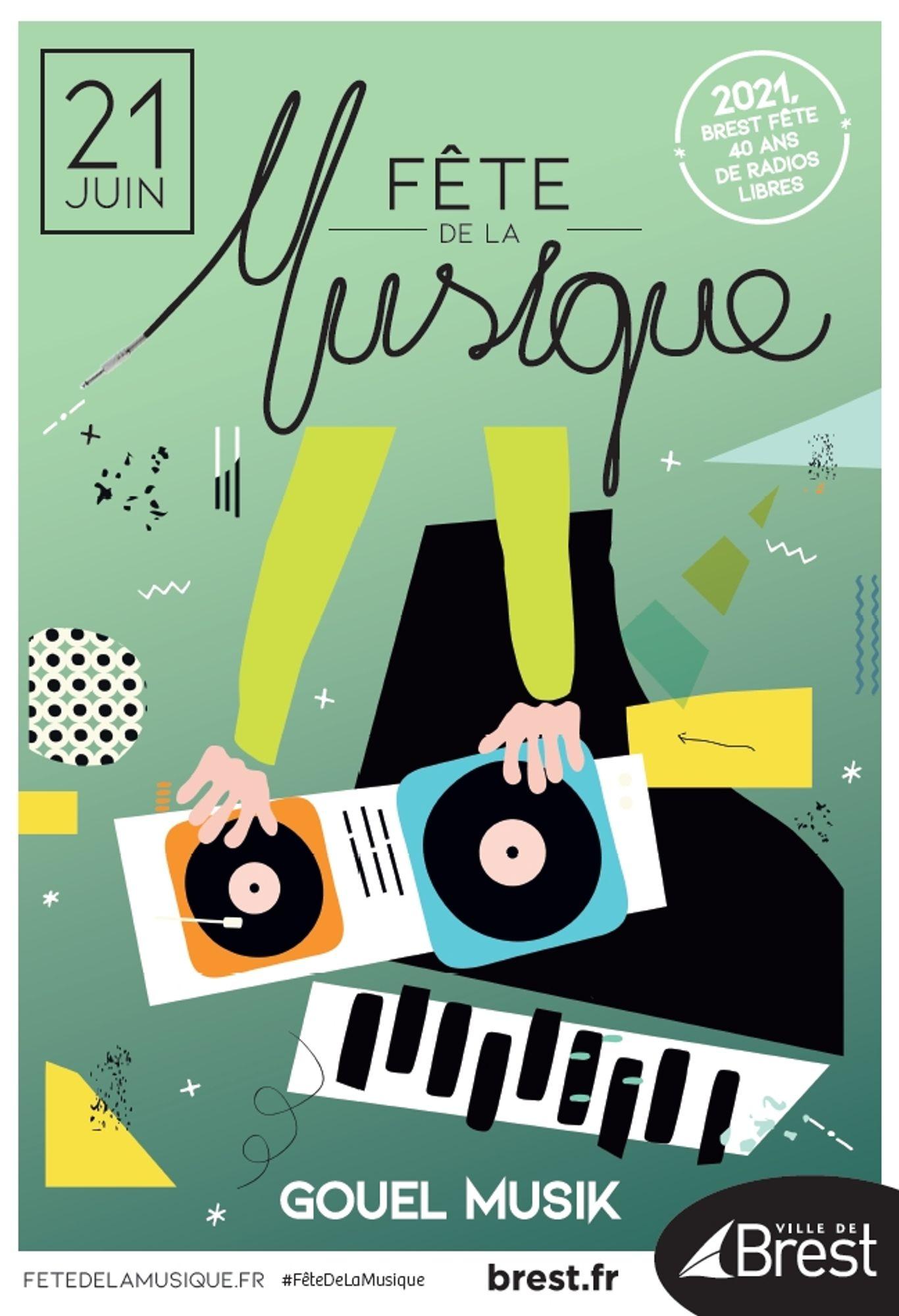 Affiche de la Fête de la Musique 2021 à Brest