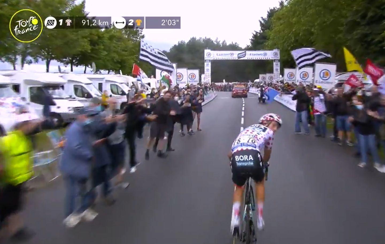 Tour de France - cycliste dans le flou