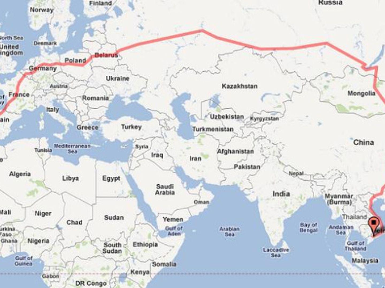 Le plus long trajet de train au monde sans interruption