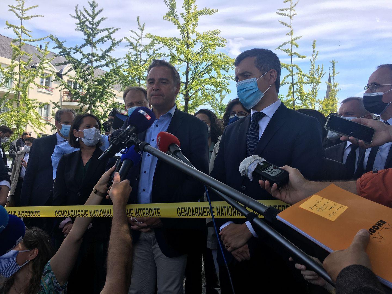 Gérald Darmanin à La Chapelle, aux côtés du maire Fabrice Roussel