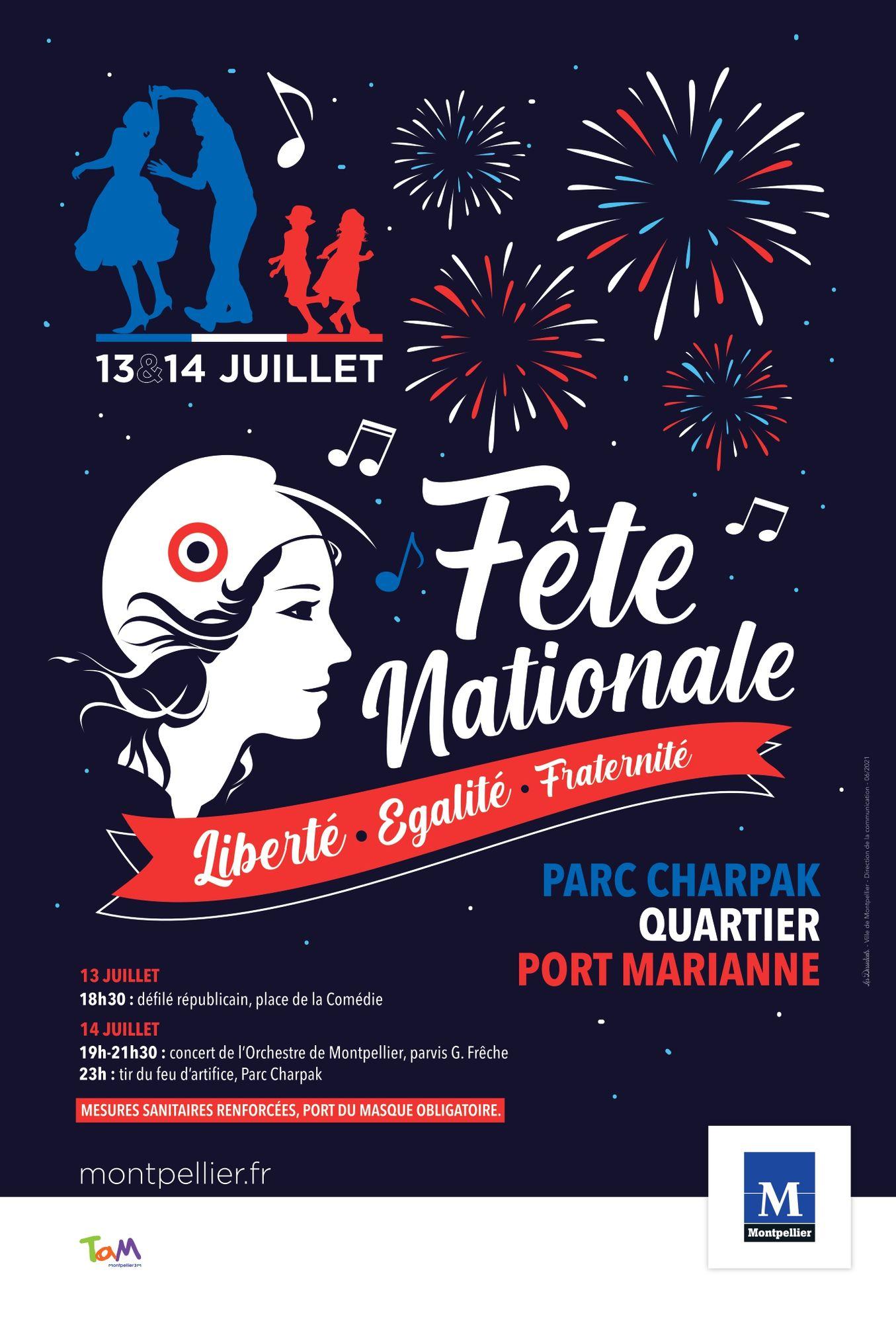 Fête nationale à Montpellier