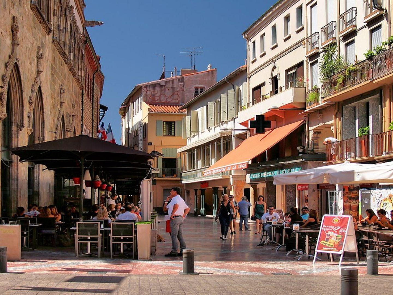 Le centre de Perpignan