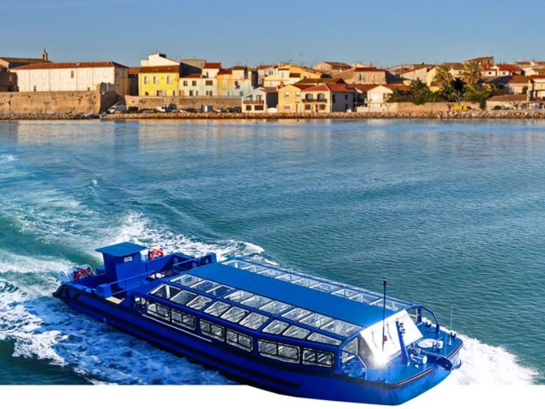 Le bateau-bus qui fera la liaison entre Sète et Mèze