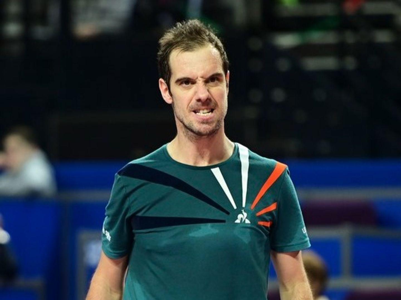 Richard Gasquet à l'Open Sud de France de Montpellier.