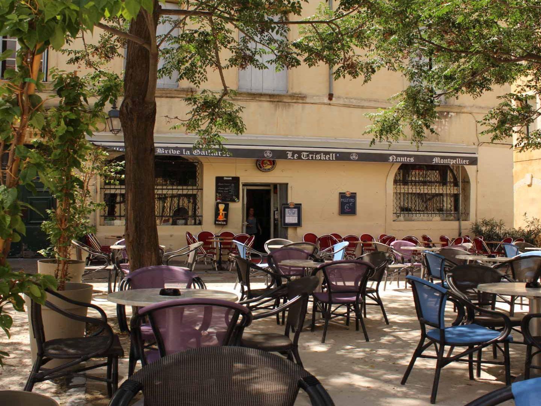 La terrasse d'un restaurant, à Montpellier.