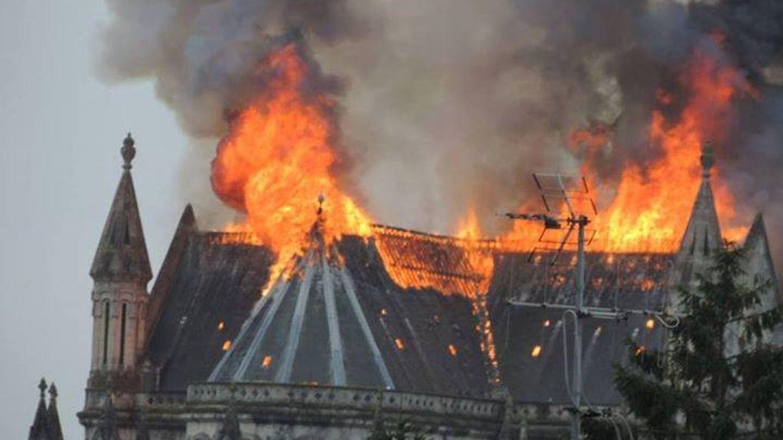 Incendie à la basilique, le 15 juin 2015