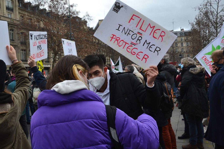 Manifestation loi sécurité globale Perpignan