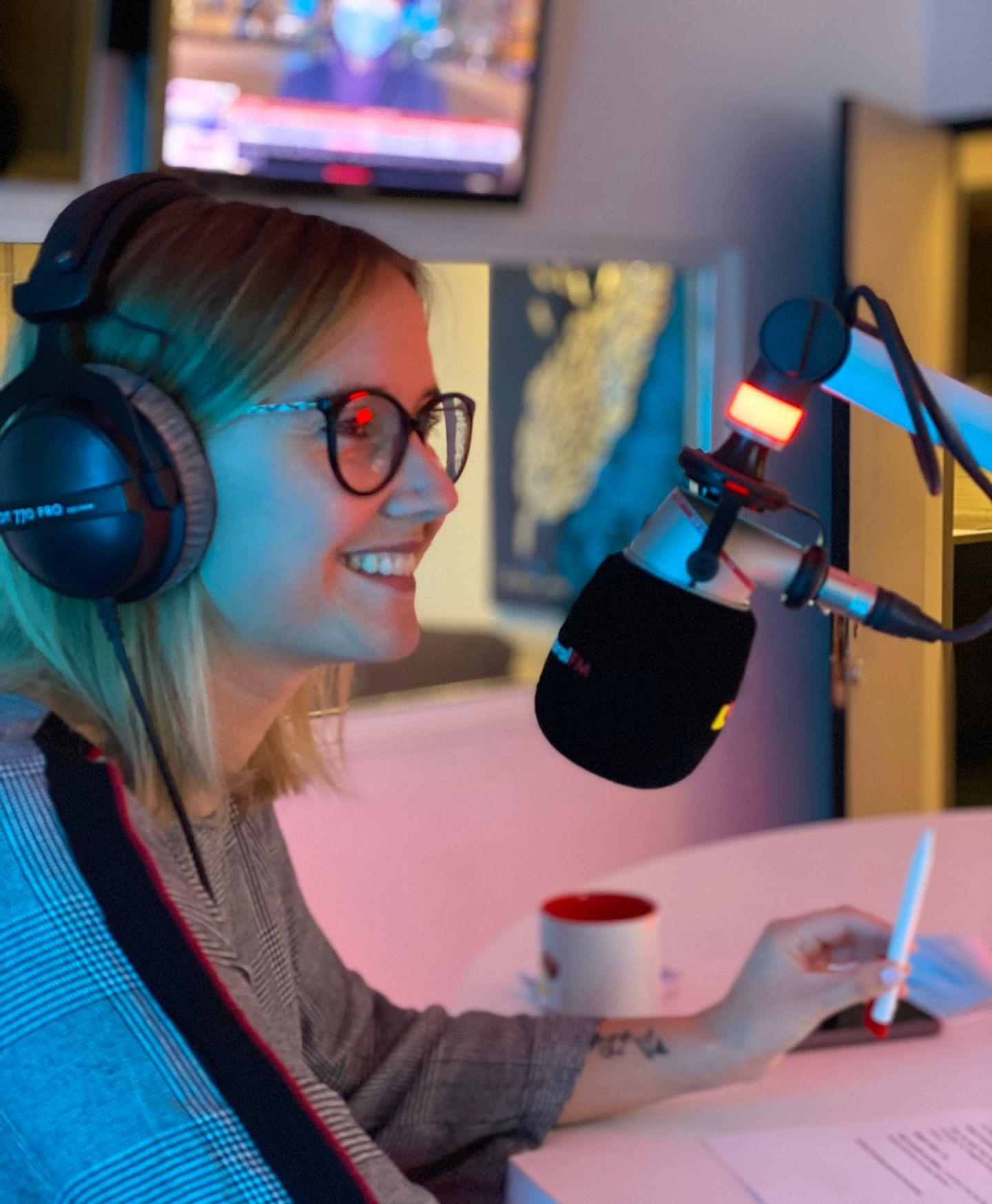 Camille Birck, animatrice sur Littoral FM