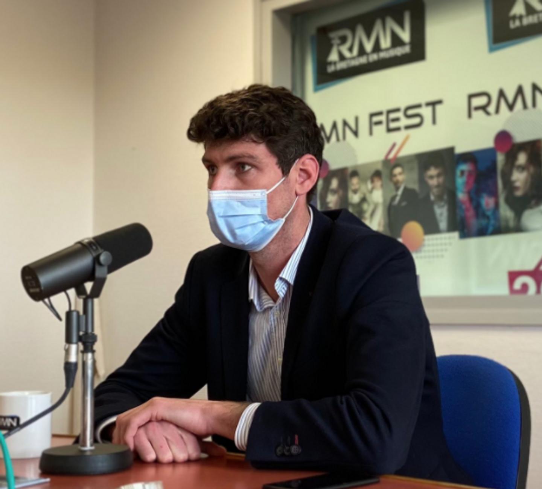 Tristan Bréhier, au micro de RMN