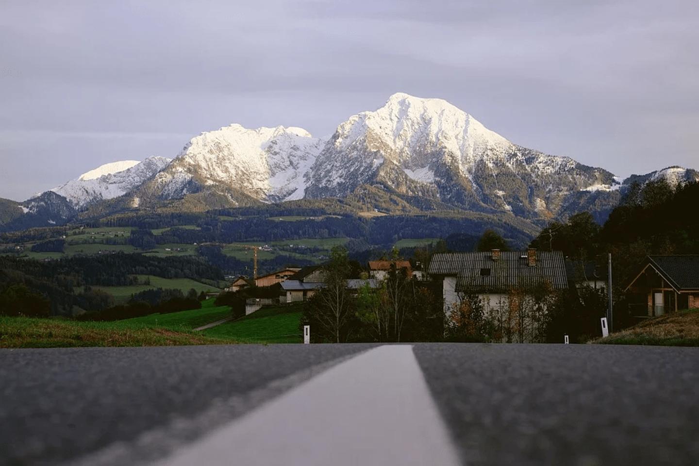 route neige montagne