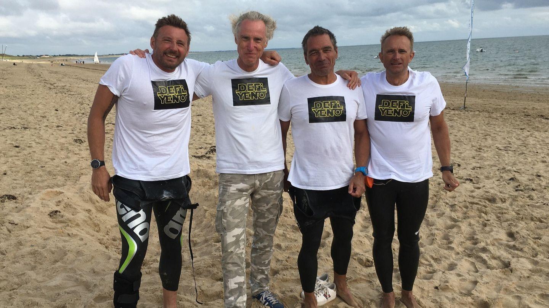 Quatre nageurs sans palme, mais pas sans panache