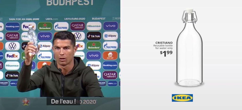 IKEA lance une bouteille en hommage à Cristiano Ronaldo ! (Photo)