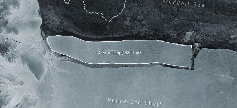 Le plus gros iceberg au monde se détache de l'Antarctique [photo]