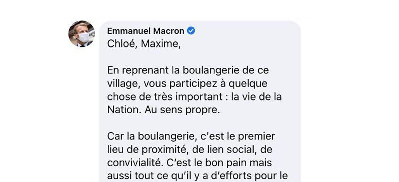 Emmanuel Macron commente le statut Facebook de deux jeunes...