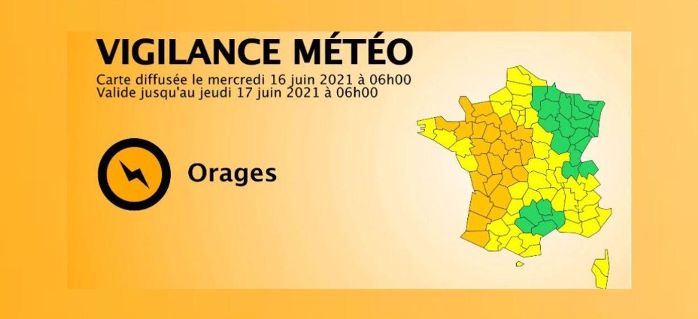 Vigilance orange orages dans une moitié centre-ouest de la France
