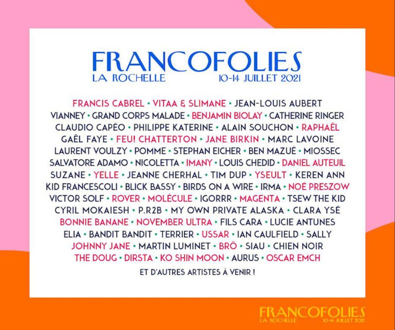 La Rochelle : coup d'envoi ce samedi des Francofolies