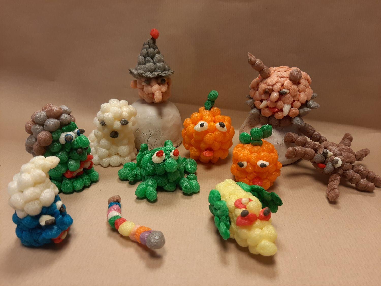 ATELIER CREATIF : Fabrication d'un sujet « Halloween » en billes de flocons de maïs