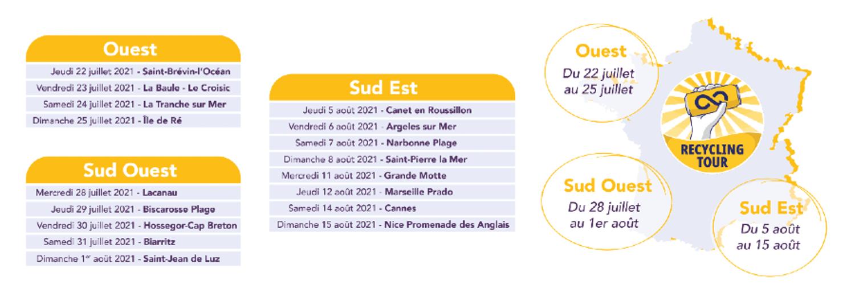 L'opération passe notamment par l'Île-de-Ré et la Baule - Le Croisic
