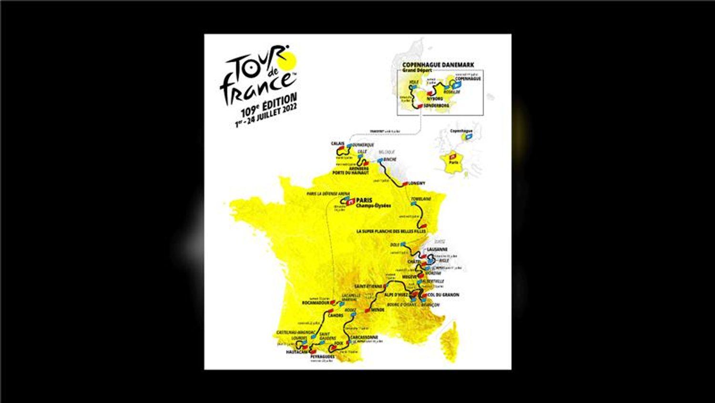 La Carte du Tour de France 2022