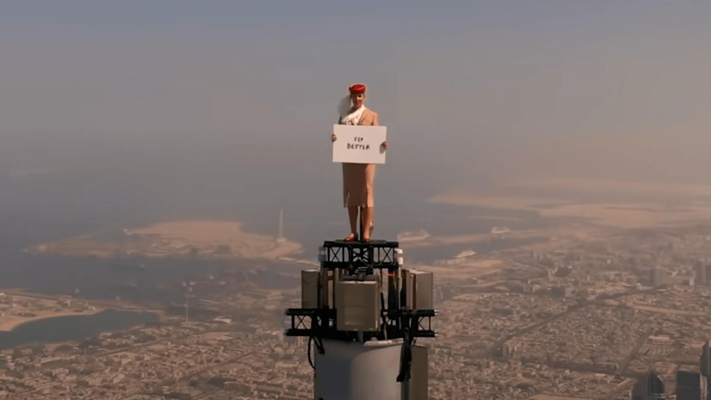 Une publicité Emirates vertigineuse !