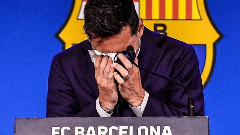 Mouchoir de Messi utilisé lors de son discours à Barcelone mis en vente