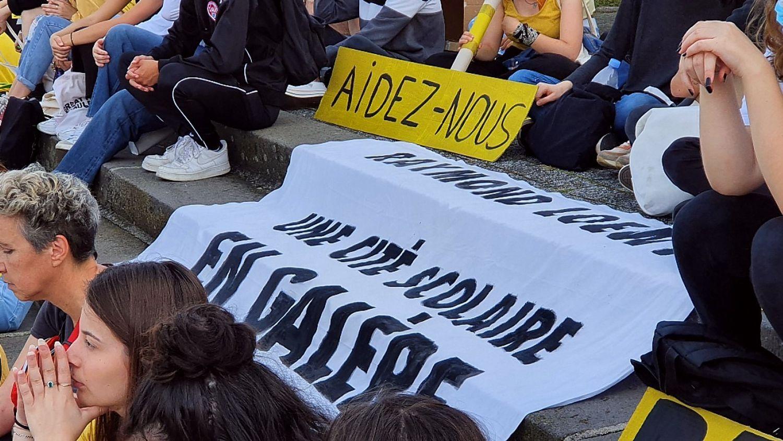 Mobilisation de la cité scolaire Raymond Loewy à La Souterraine