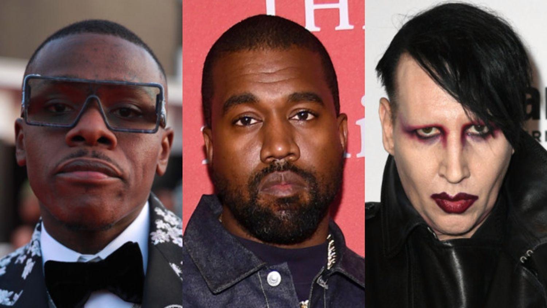 Kanye West critiqué pour avoir invité Marylin Manson et Da Baby lors de son show