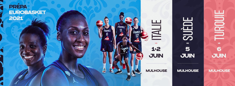 Matches de préparation de l'équipe de France féminine de Basket à Mulhouse