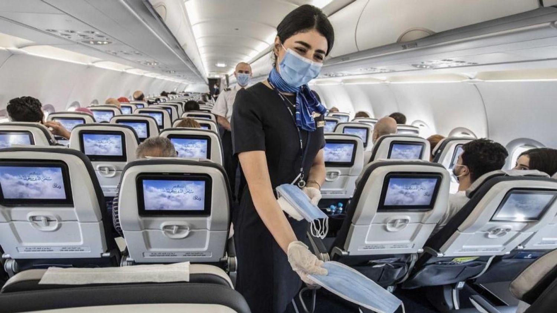 Quand le port du masque devient une cause de conflits entre les voyageurs en avion