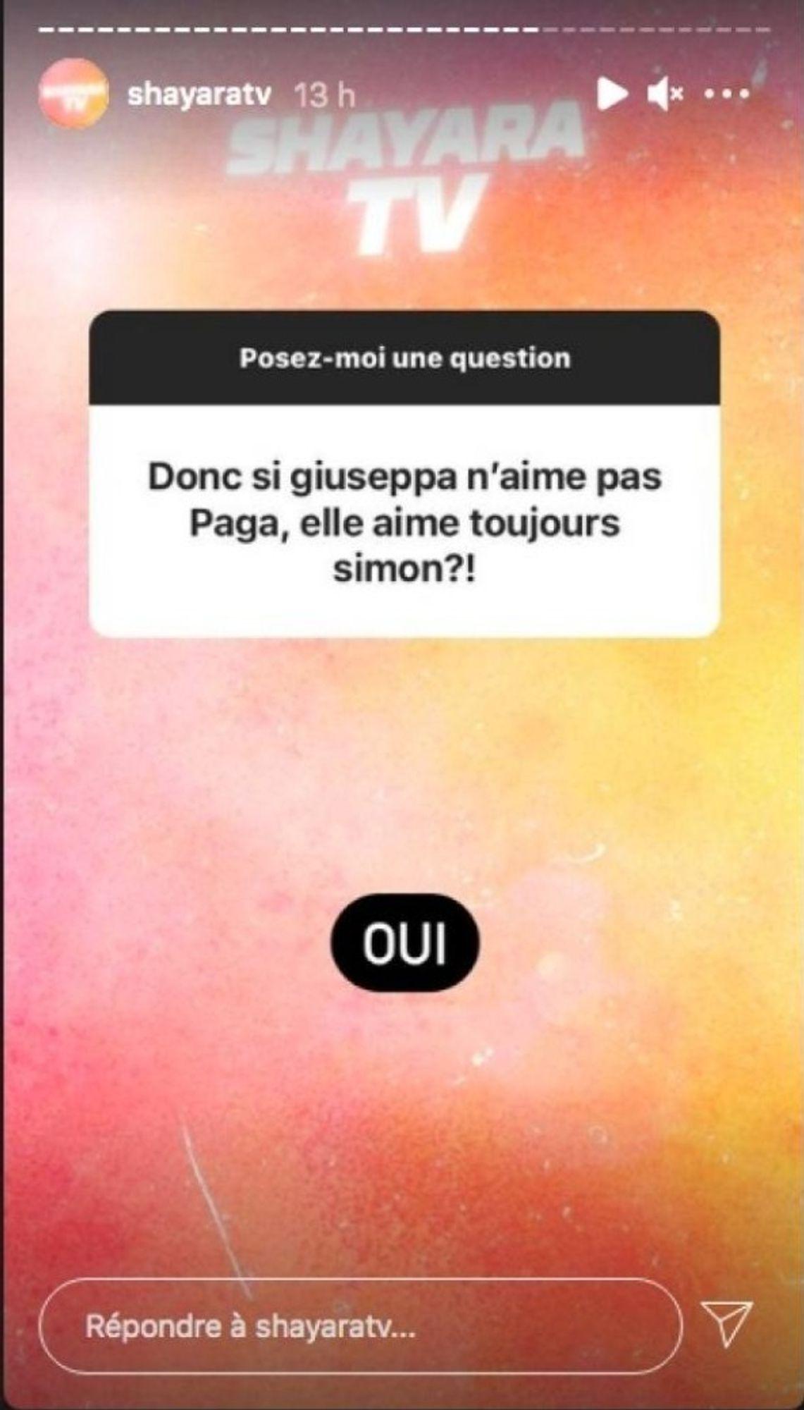 Giuseppa en couple avec Paga, toujours amoureuse de Simon Castaldi ?
