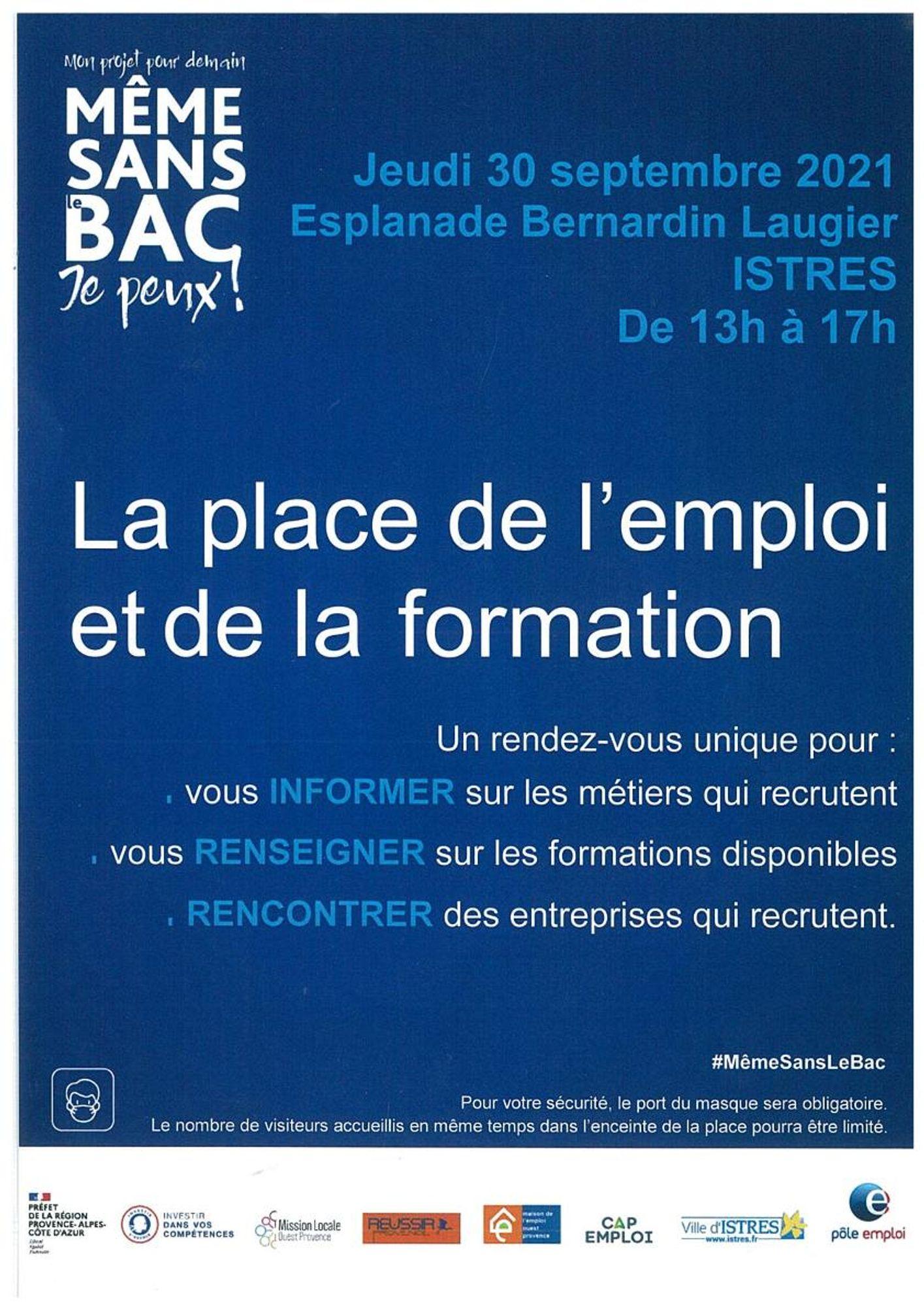 [ CULTURE / LOISIR ] ISTRES : PLACE DE L EMPLOI ET DE LA FORMATION DU 30 SEPTEMBRE
