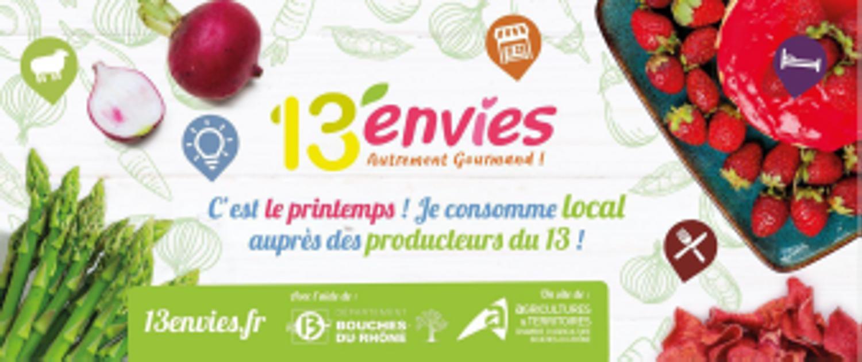 "[ SOLIDARITE ] Consommez local grâce à l'appli ""13Envies"""