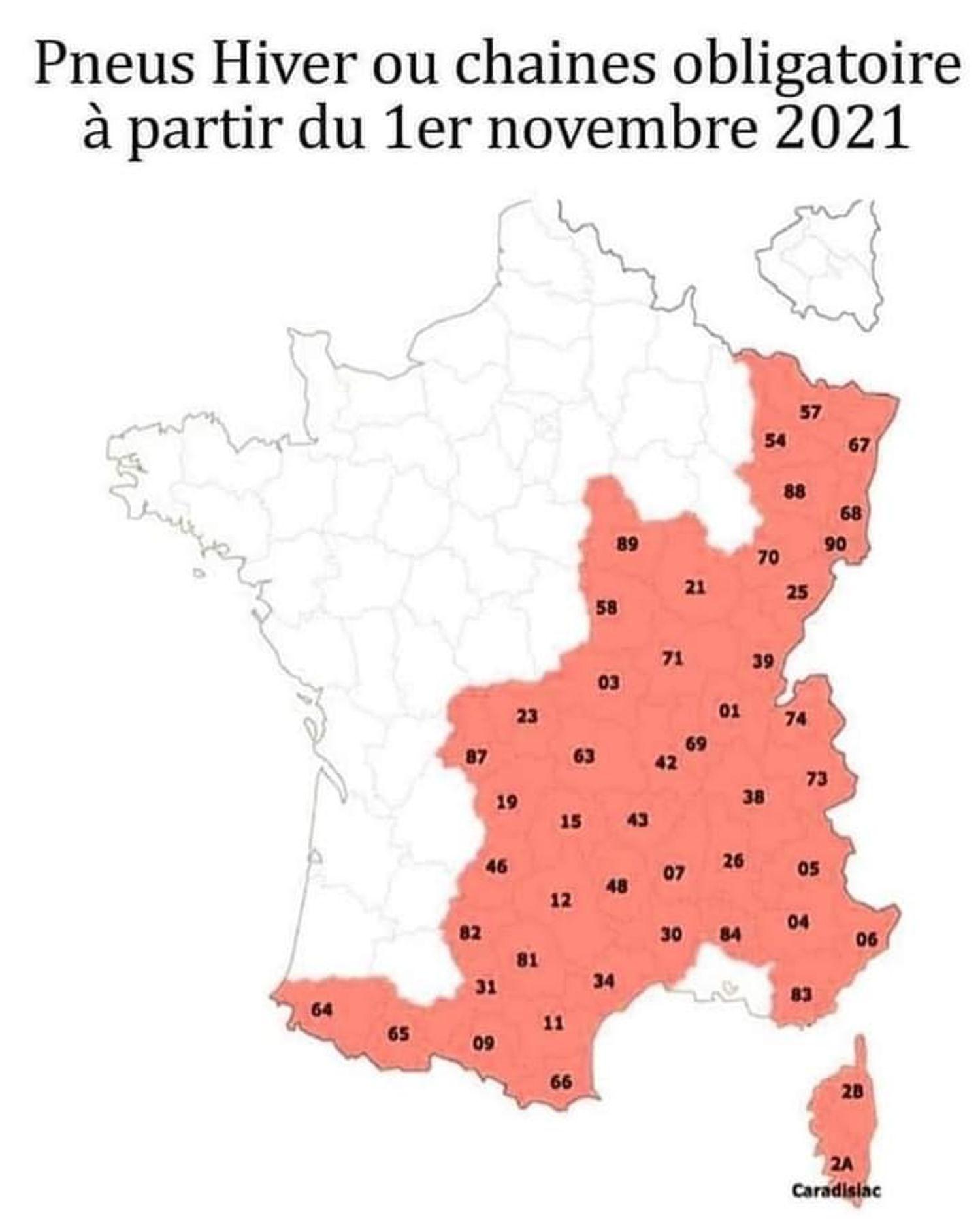 [ ALERTE INFO-SOCIETE ] Les pneus neige sont obligatoires à partir du 1er novembre 2021