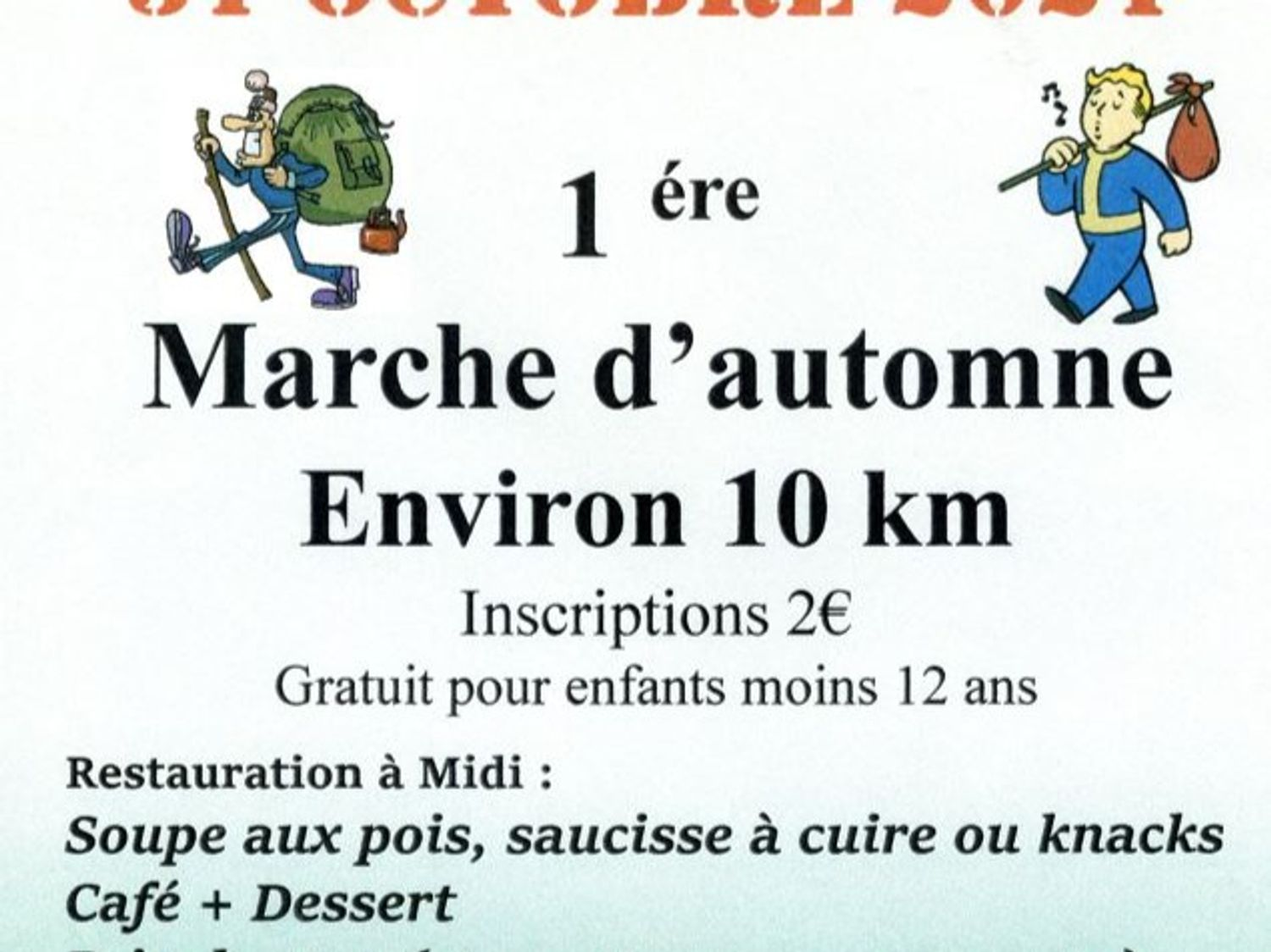 MARCHE D'AUTOMNE LE 31 OCTOBRE A WEITERSWILLER