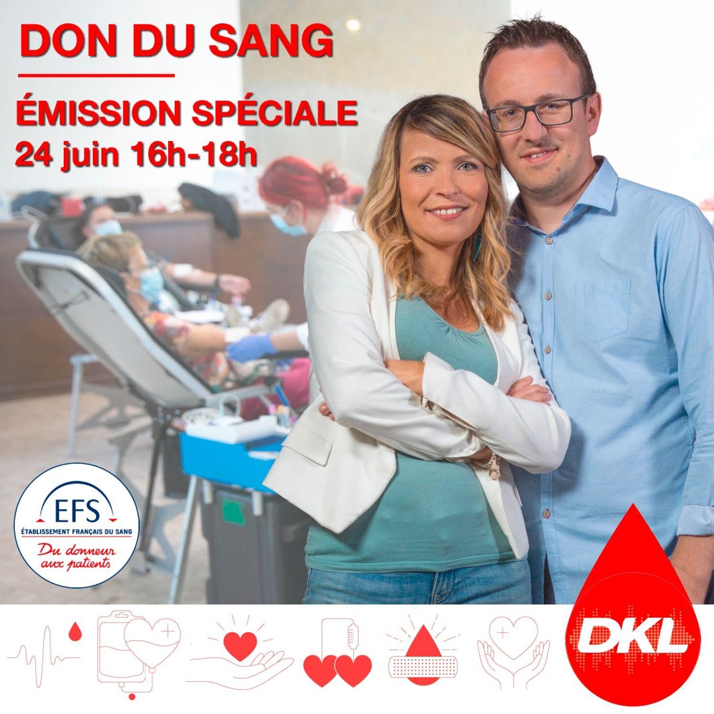Emission spéciale Don du Sang avec l'EFS