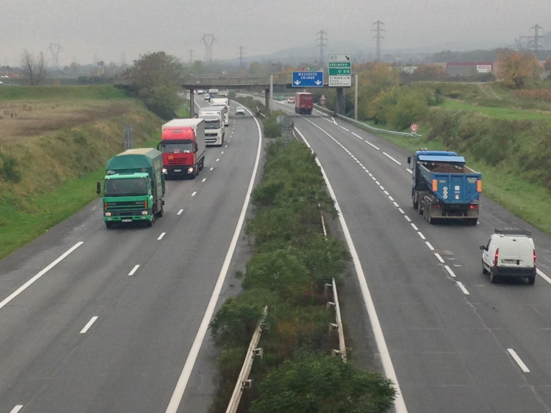 A35 Sélestat Châtenois autoroute camions circulation