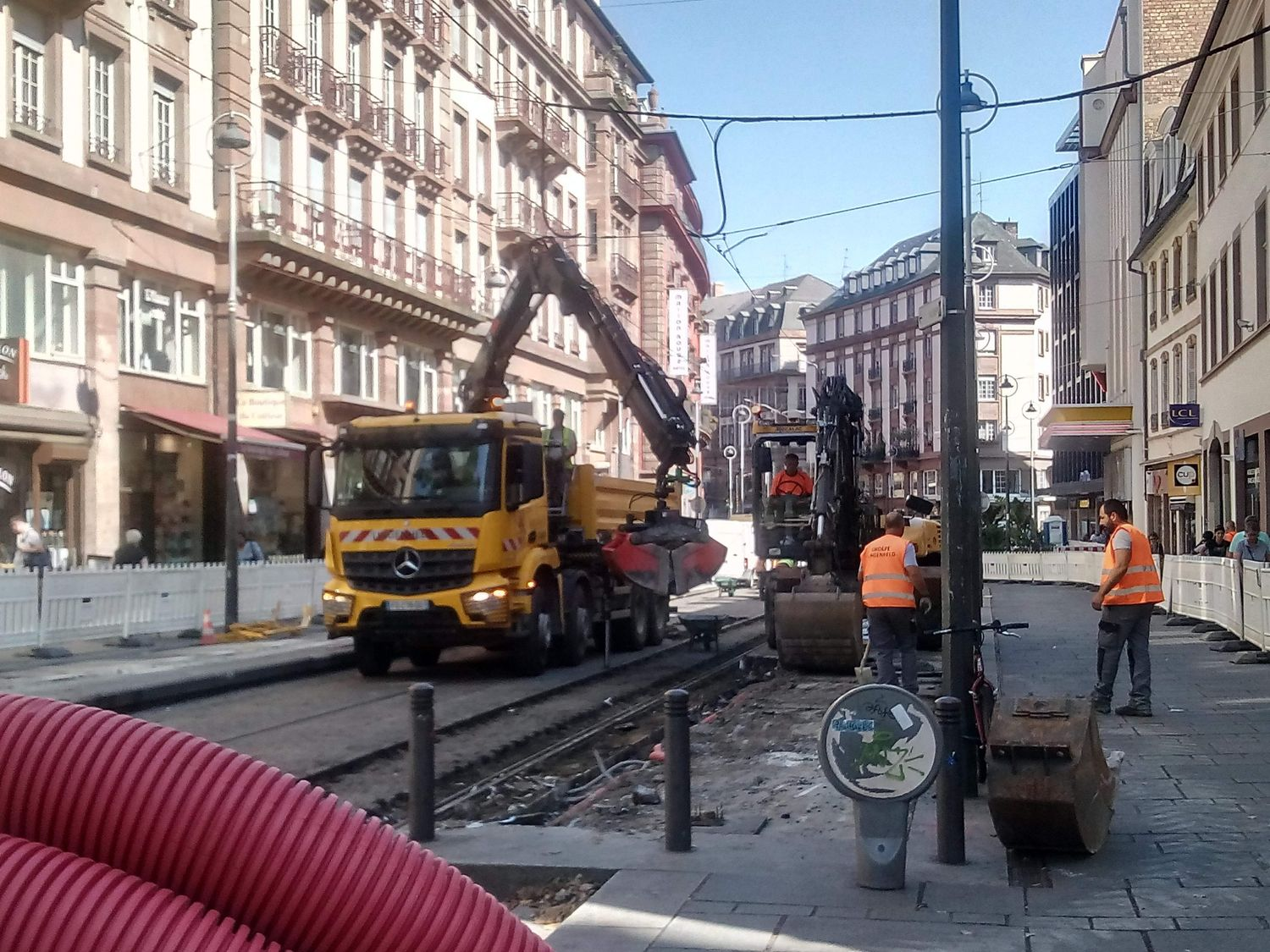 Travaux tram CTS archives
