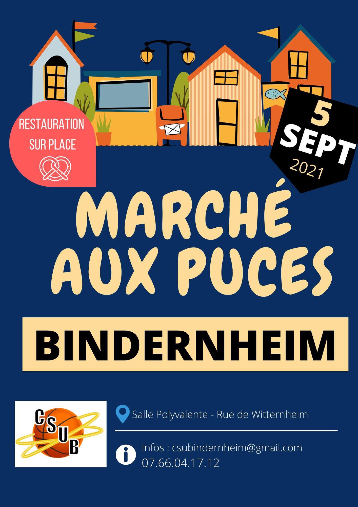 Marché aux puces organisé par le club de basket de Bindernheim