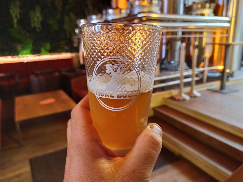 Verre bière Tigre Bock 100 ans