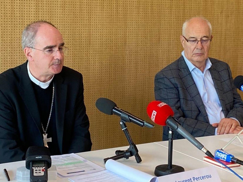 Monseigneur Laurent Percerou, évêque de Nantes et Jean-Luc Pilet