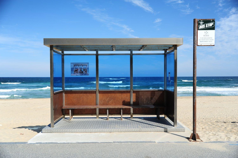 Arrêt pour les bus plage