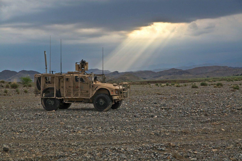 Jeep en Afghanistan
