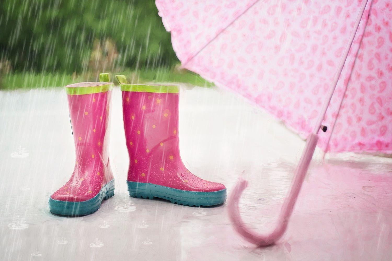 Pluie - bottes et parapluie