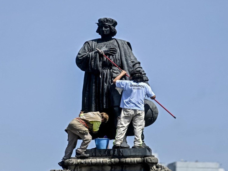 La statue de Christophe Colomb à Mexico