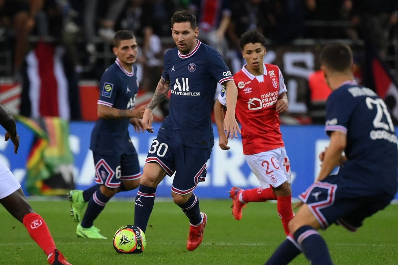 Lionel Messi au PSG ses premières minutes de jeu contre Reims.
